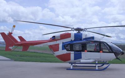 Airmedic debuts EC145e at APSCON